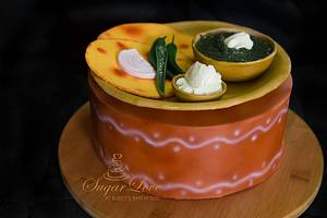 Indifoodcollaboration-Makki ki roti sarson ka saag - Cake by SugarLove at Bubzy's Bakehouse