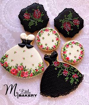 "Black & White Ukrainian style cookies - Cake by Nadia ""My Little Bakery"""