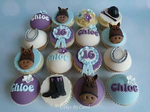 Horse theme cupcakes - Cake by Carol