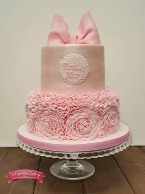 Silky Pink Ruffles - Cake by The Custom Cakery
