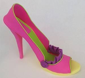 Spring Gumpaste Shoes - Cake by Xiomara Ortiz-Bevel