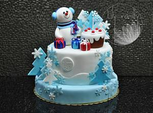 Winter fantasy - Cake by Lily Vanilly