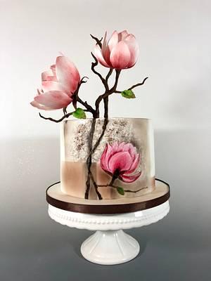 Magnolia cake - Cake by tomima