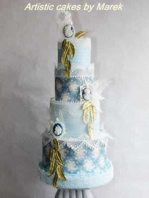Vintage Wedding cake - Cake by Marek