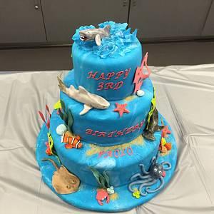 Sharks in the Sea - Cake by Pinkvelvet