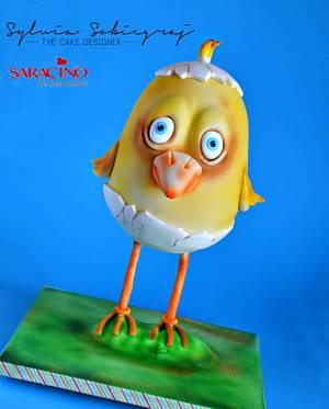The Spring Chicken - Cake by Sylwia Sobiegraj The Cake Designer