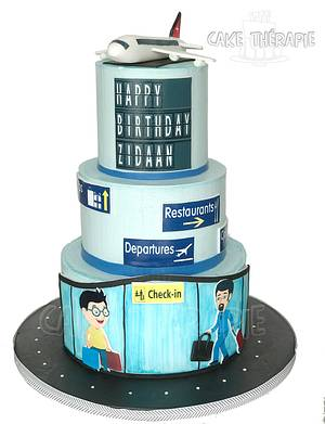 Airport themed cake - Cake by Caketherapie