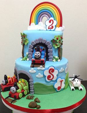 2nd Birthday Thomas the Tank Engine & Friends Cake - Cake by MariaStubbs