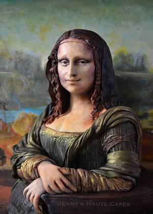 Mona Lisa Sculpted Cake - Sugar Art Museum - Cake by Jenny Kennedy Jenny's Haute Cakes