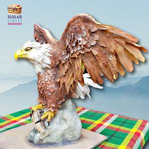Bald Eagle - Cake by Sugar Street Studios by Zoe Burmester