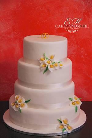 Calla Wedding Cake - Cake by Elli & Mary