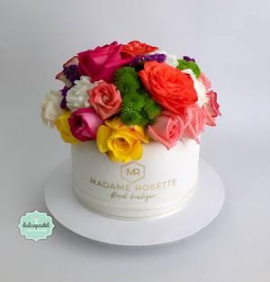 Torta de Flores - Flowers Cake - Cake by Dulcepastel.com