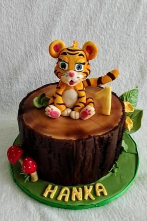 Baby tiger for Hanka - Cake by Anka