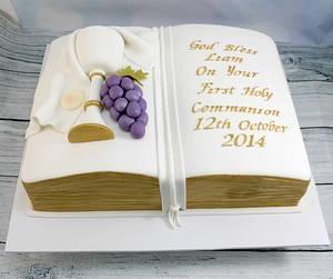 Holy Communion bible cake - Cake by Kake Krumbs