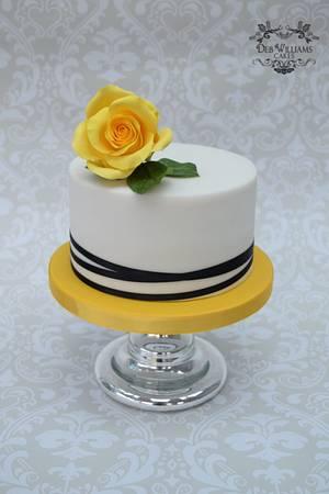 Yellow rose cake - Cake by Deb Williams Cakes