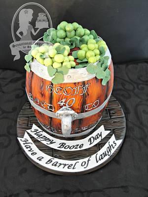 Wine Barrel Cake - Cake by Sensational Sugar Art by Sarah Lou