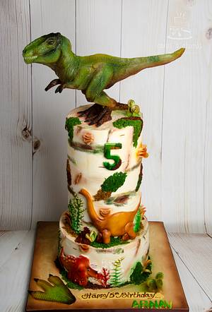 T-Rex Cake  - Cake by Hima bindu