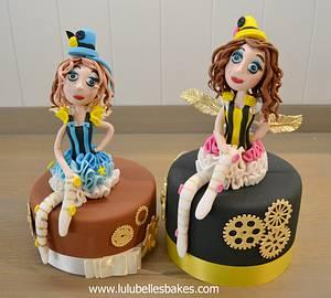 Steam Punk Fairies - Cake by Lulubelle's Bakes