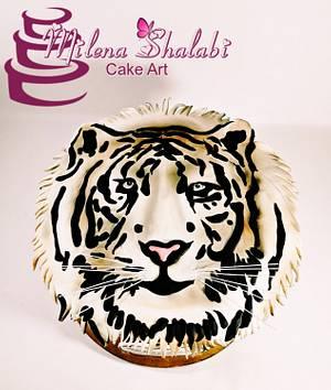 Tiger - Cake by Milena Shalabi