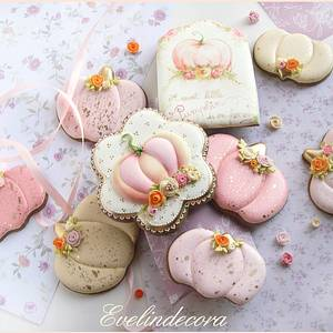 Pastel pumpkins - Cake by Evelindecora