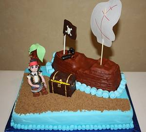 Pirate Ship Cake - Cake by Pam and Nina's Crafty Cakes