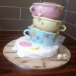 Tea for Three - Cake by Licky Lips Cakes