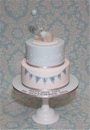 Baby Elephant Cake in Blue - Cake by CakeAvenue