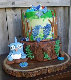"Woodland Birthday Cake  - Cake by June (""Clarky's Cakes"")"