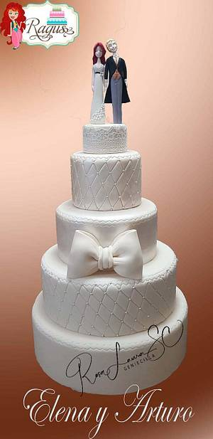 Anniversary Silver Weddings - Cake by Rosa Laura Sáenz