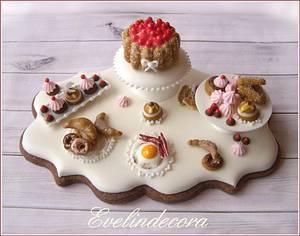 Breakfast miniature cookie - Cake by Evelindecora