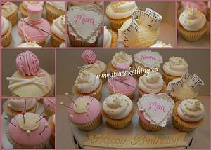 Seamstress Themed Cupcakes  - Cake by It's a Cake Thing