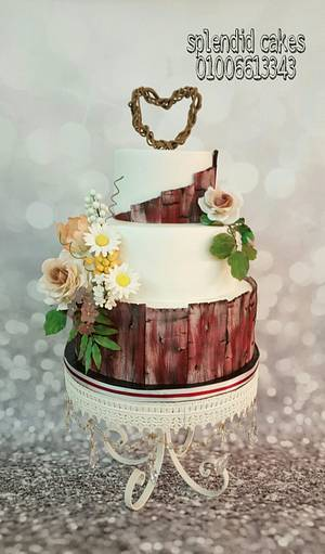 Wooden cake  - Cake by Reham