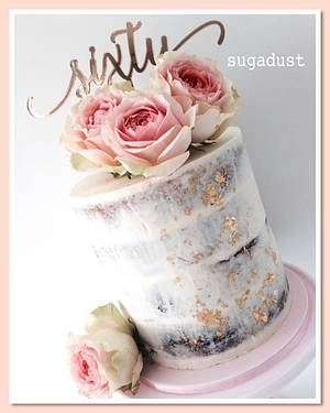 Sweet Sixty - Cake by Mary @ SugaDust