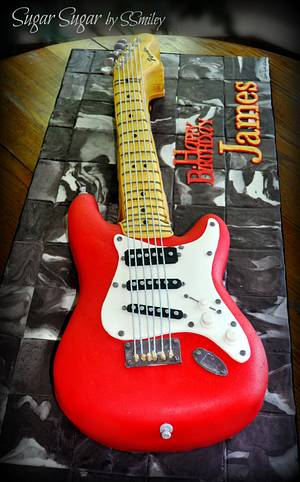 Fender Electric Guitar - Cake by Sandra Smiley