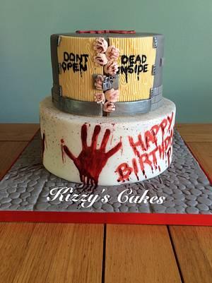 Walking Dead Birthday Cake - Cake by K Cakes