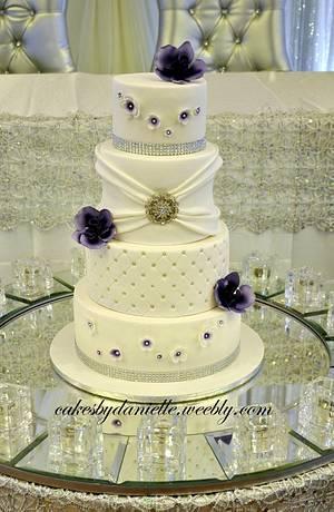 Purple Wedding - Cake by CBD