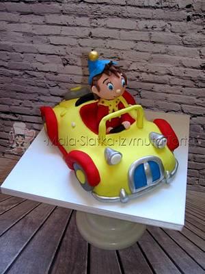 Noddy in car - Cake by tweetylina