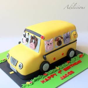 Farm Animal Bus Cake - Cake by Adilicious