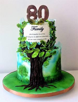 Family tree cake - Cake by Zlatina Lewis Cake Boutique