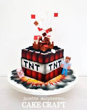 Minecraft TNT Birthday Cake - Cake by Janette MacPherson Cake Craft