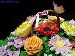 Spring flower basket - Cake by My Sweet World_Elena