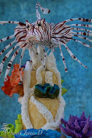 Under The Sea Collaboration - Lion Fish - Cake by Jennifer Kennedy O'Friel - Sweet JennieD