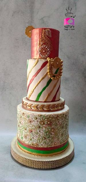 Indian Textiles-Incredible India Cake Collaboration II - Cake by Chanda Rozario
