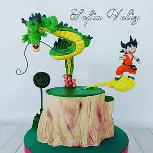 Dragon ball/ shen long /Goku - Cake by Sofia veliz