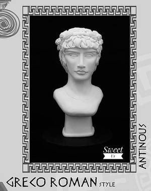 """""""ANTINOUS"""" - GRECO ROMAN STATUES CHALLENGE - Cake by Gabriela Doroghy"""