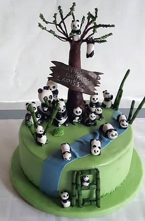Panda invasion18. birthday cake - Cake by StyledSugar