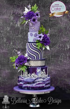 Purple Fantasy  - Cake by Bellaria Cake Design