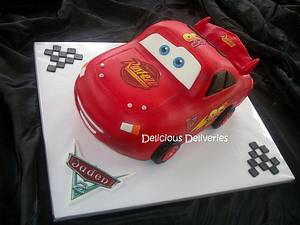 Lightning McQueen Cake - Cake by DeliciousDeliveries