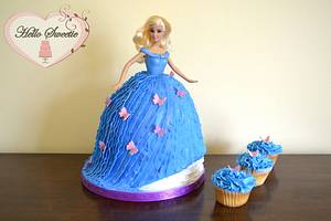 If Barbie wore Cinderella's ball gown... - Cake by Hello Sweetie Cakes by Margaret Camp