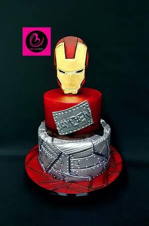 Iron man cake - Cake by Bella Cakes